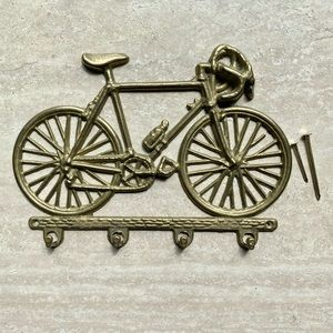 Vintage Brass Bicycle Wall Hooks